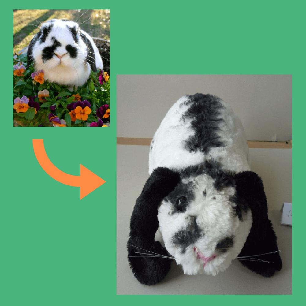 cuddly bunny stuffed animal