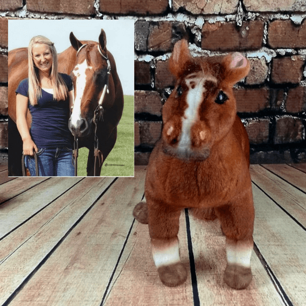 stuffed animal of horse
