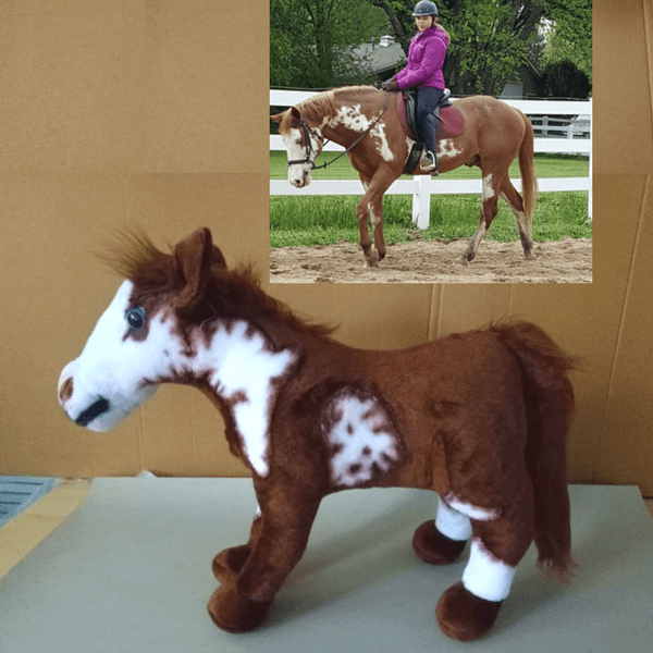 horse plush from photo