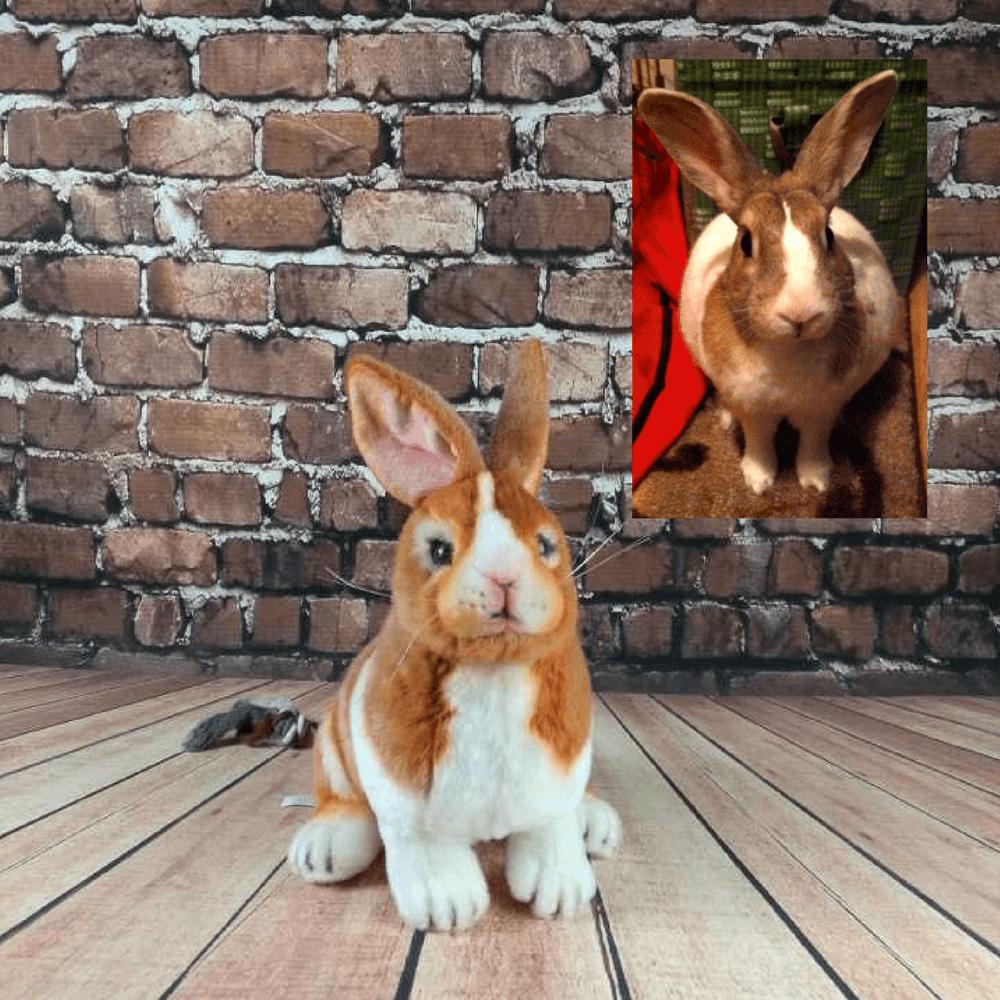 realistic rabbit stuffed animal