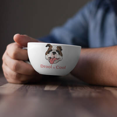 blox the bulldog coffee mug