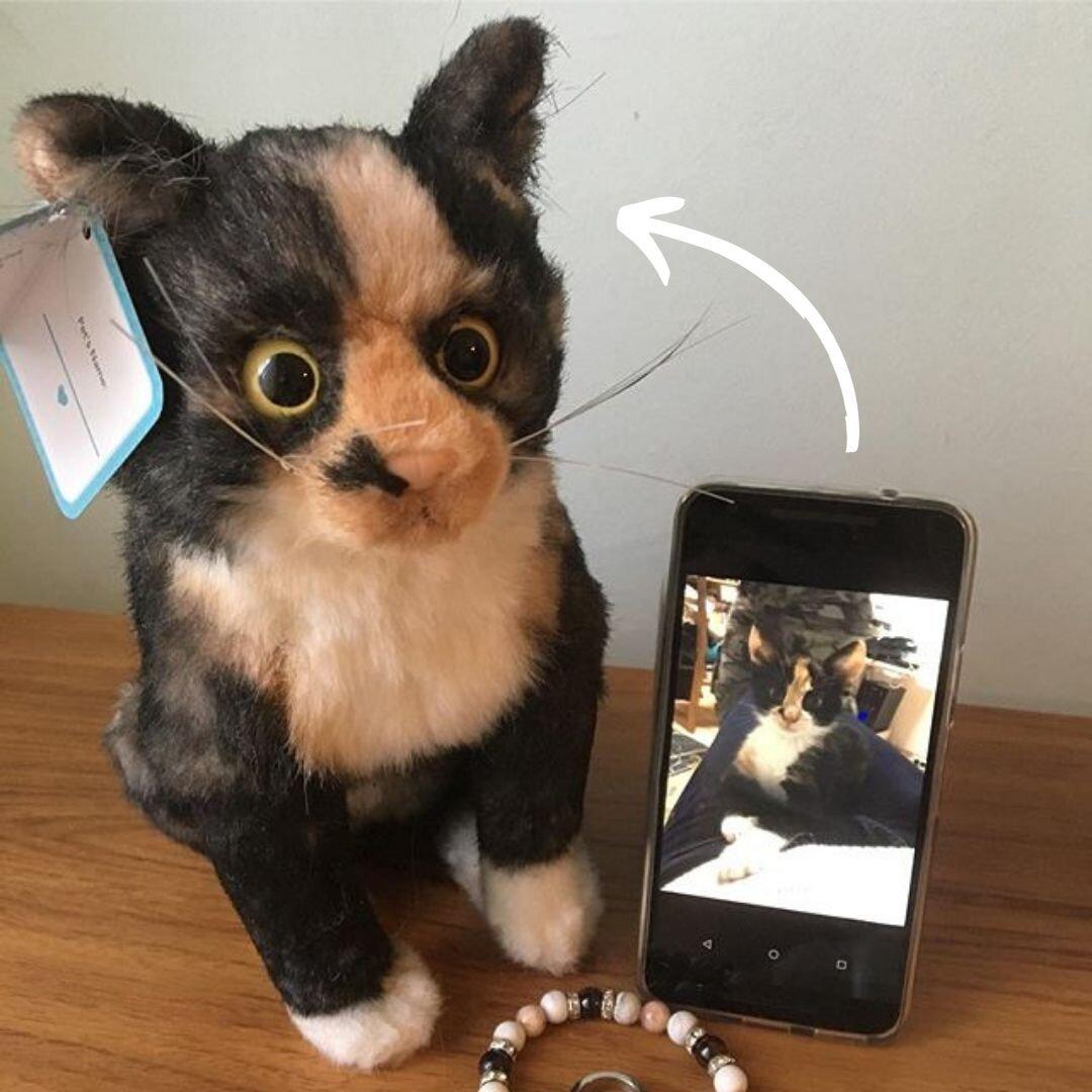 realistic cat stuffed animal