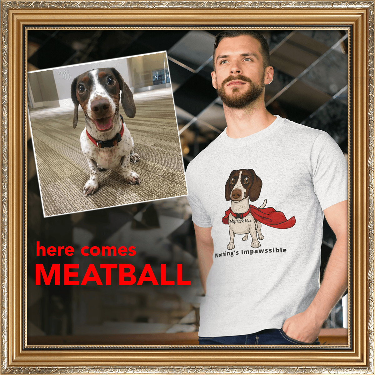 Here comes meatball tshirt