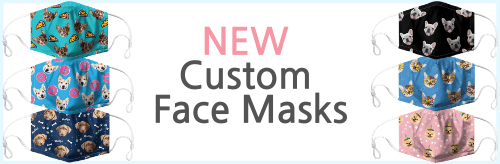 a face mask with your pets face on it