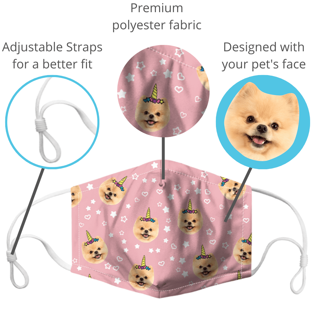 custom face mask of your pet