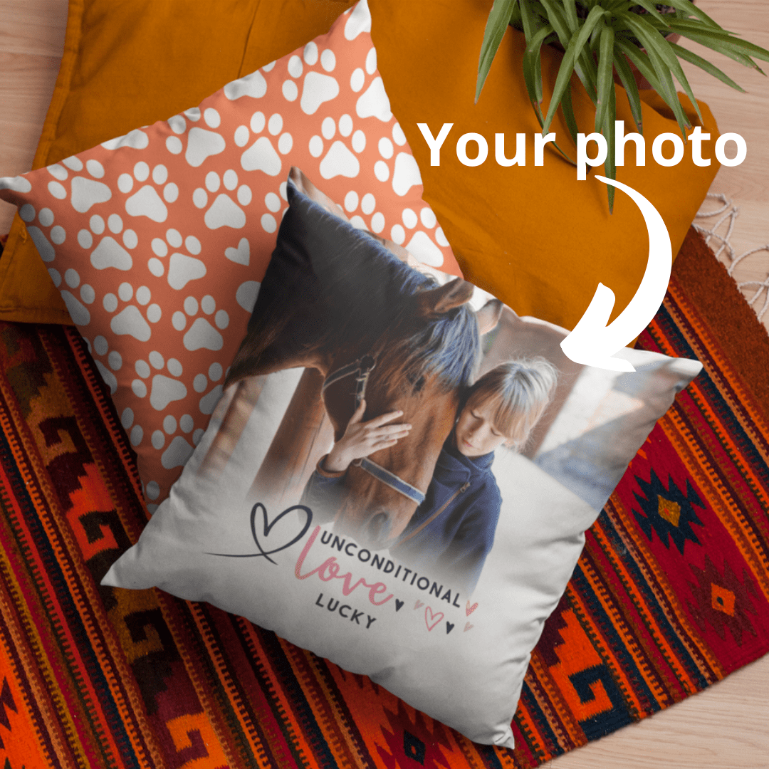 personalized pet photo pillows
