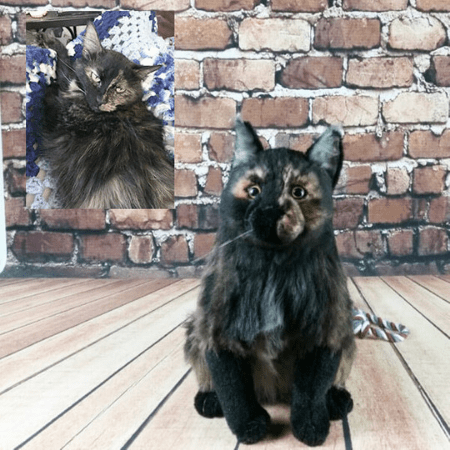 realistic cat stuffed animals
