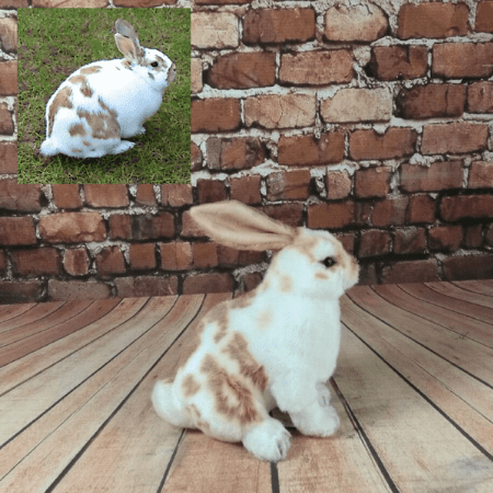 realistic stuffed rabbit